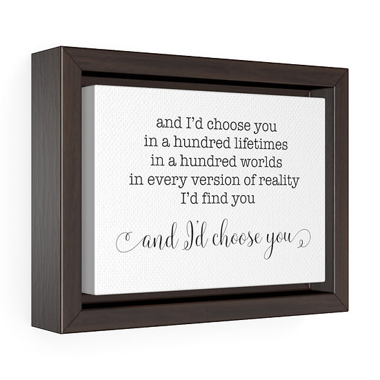 Master Bedroom Sign, I'd Choose You Wedding Vow Sign, Bedroom Wall Decor