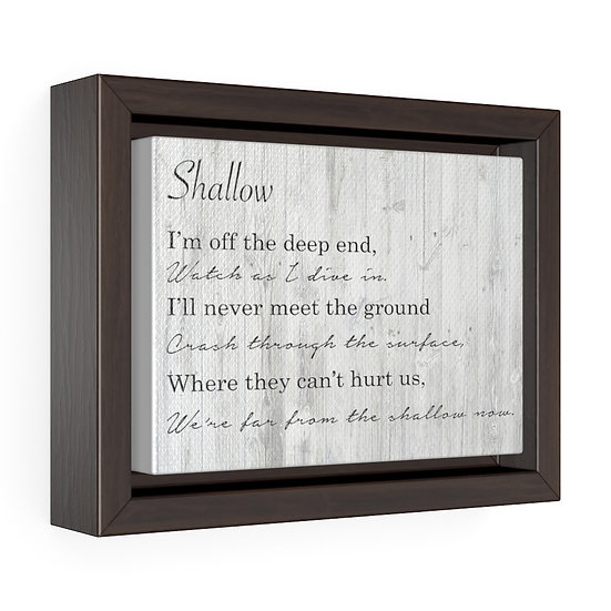 Shallow Song Lyrics Personalized Wedding Canvas, Personalized Song Lyric Gift