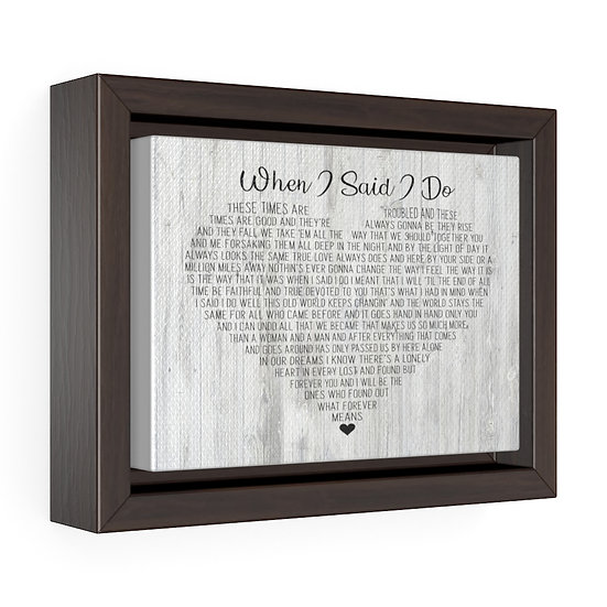 Personalized Canvas Print, When I Said I Do Framed Wrap Canvas, Wedding Gift