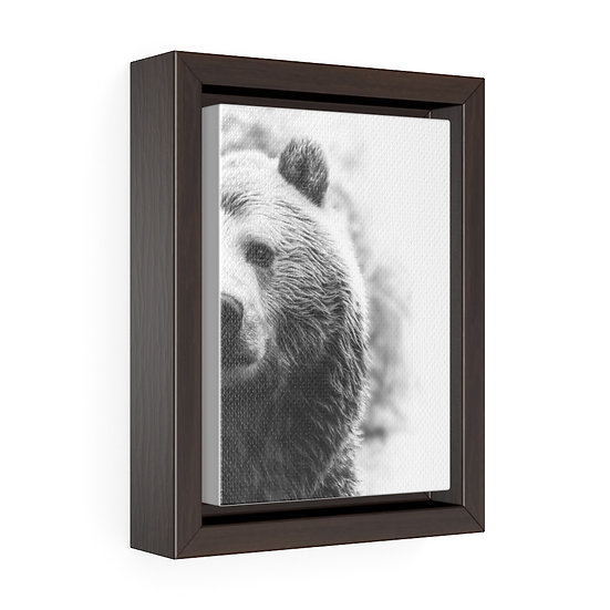 Canvas Print, Peek A Boo Bear Wall Hanging, Bear Wall Art, Vertical Framed