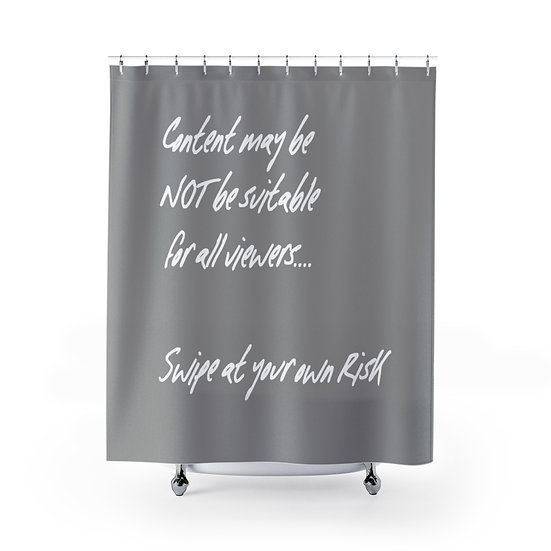 Funny Shower Curtain, Swipe at Your Own Risk,  Funny Definition Shower Curtain