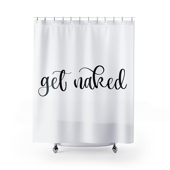 Shower Curtain, Get Naked Designer Curtain, Shower Curtain Liner