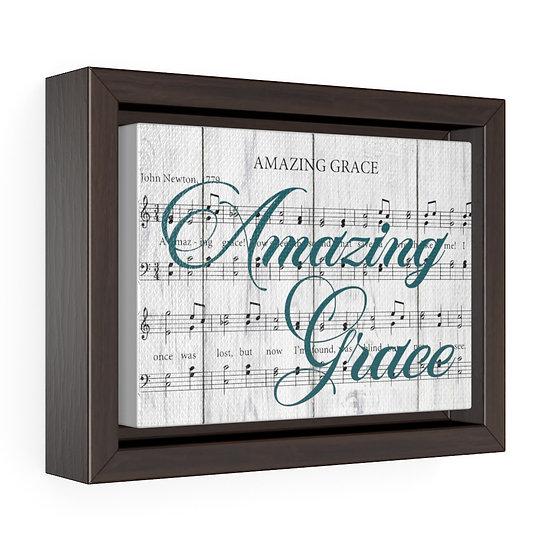 Canvas Print, Amazing Grace Song Lyric, Christian Gift, Baptisim Gift