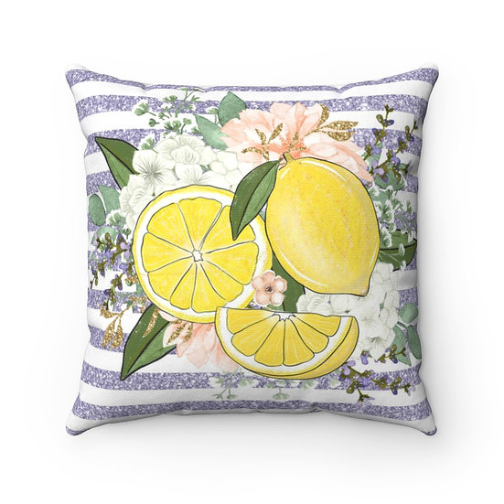Summertime Lemon Home Decor, Farmhouse Pillows, Housewarming Gift,