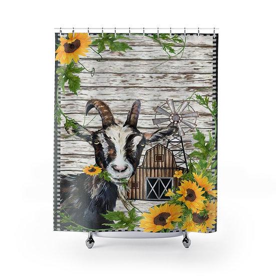 Farmhouse Goat Barn, Personalized Fabric Liner, Family Name Bathroom Decor