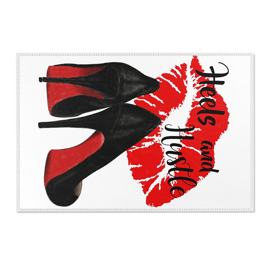 Area Rugs, Red Bottom Heels and Hustle Rug, Reflection High Heels fashionista
