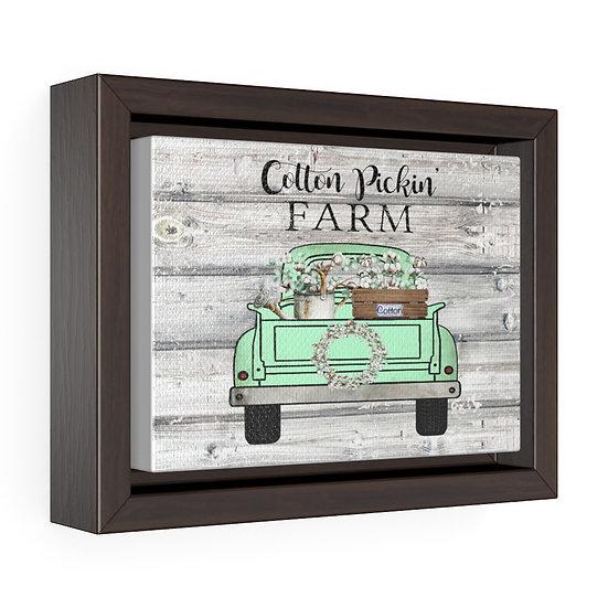 Canvas Print, Farmhouse Cotton Truck, Cotton Wall Art, Horizontal Framed Canvas