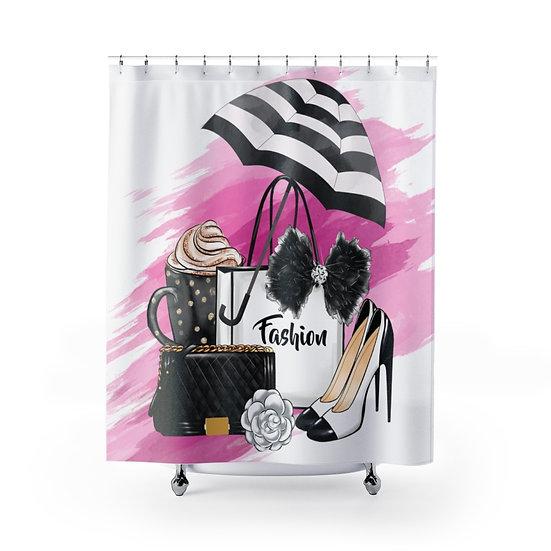 Shower Curtain, Fashionista Shower Curtain, Designer Shower Curtain