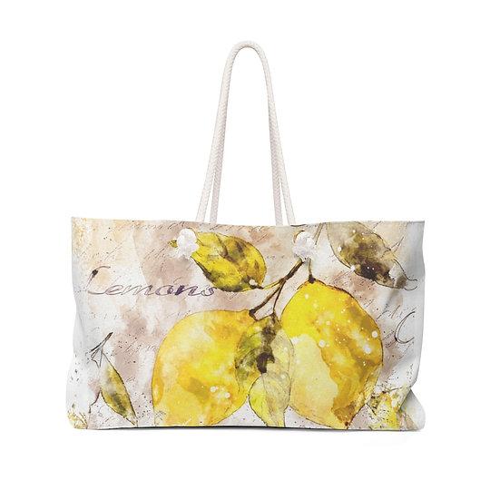 Lemon Weekender Bag