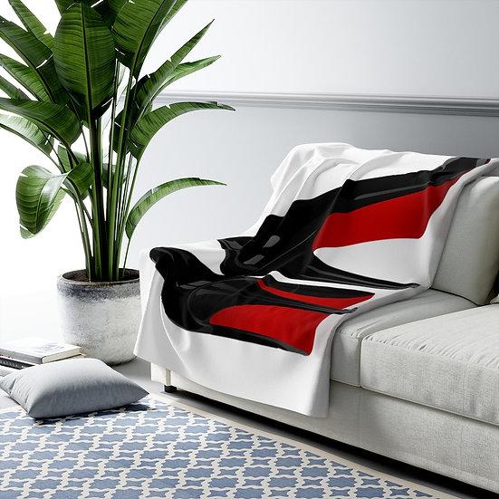 Blanket, Fashion Red Bottom Heels Sherpa Fleece Blanket, High Heels Fashion