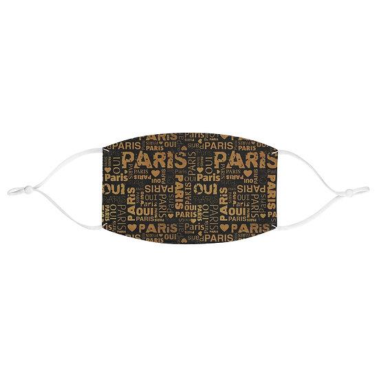 Paris Fashion Fabric Face Mask