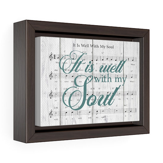 Song Lyric Print, It is Well With My Soul Song Lyric Christian Gift