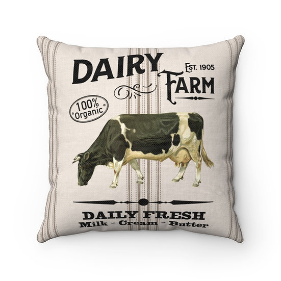 Pillow, Rustic Dairy Farm, Country Farmhouse Pillow