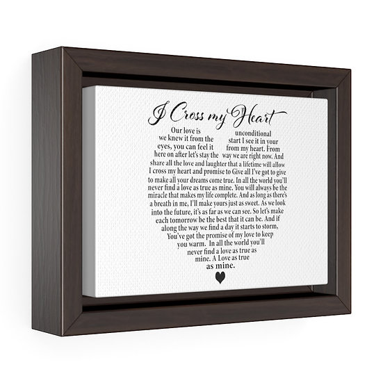 Canvas Print, I Cross My Heart Personalized Wedding Canvas