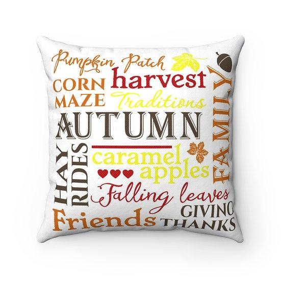 Fall Pillows, Autumn Farmhouse Pillow, Fall Home Decor,  Fall Decor