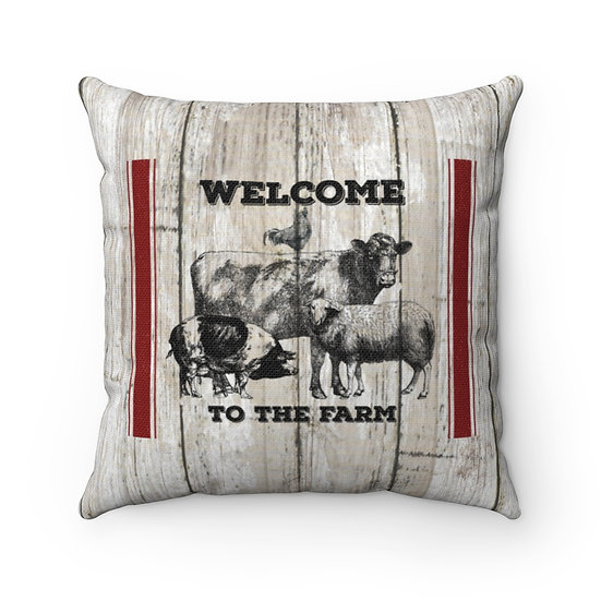 Rustic Dairy Farm Farmhouse Pillow, Ranch Throw Pillows, Western Home Decor