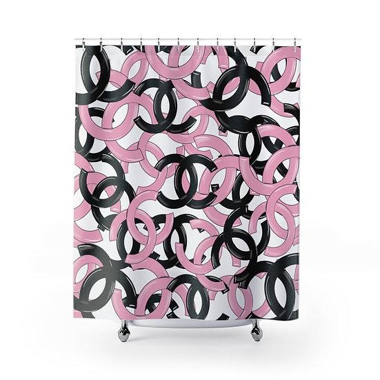 Designer Inspired Fashion Shower Curtain, Fashionista Bathroom Decor