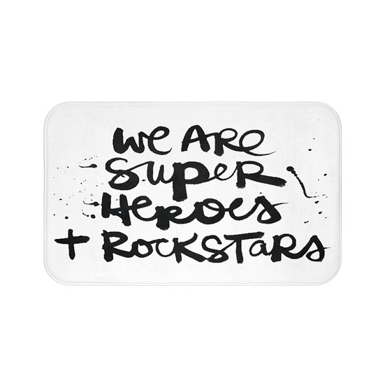 We are super heroes Bath Mat, Bathroom Accessories, Kids Bathroom