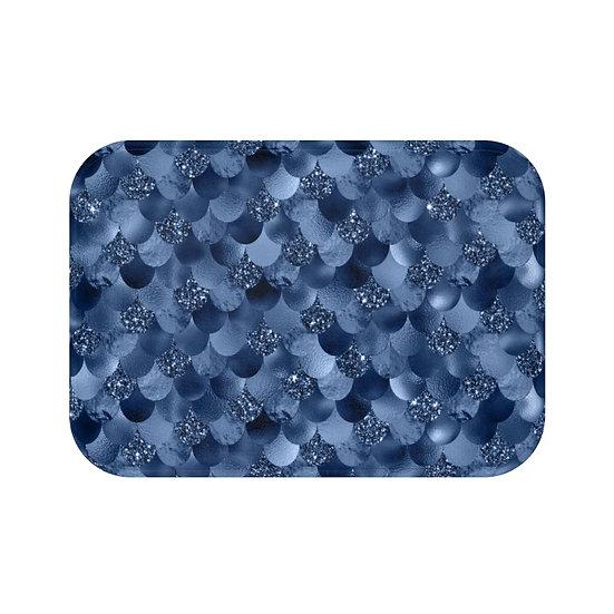 Blue Mermaid  Fashion Bath Mat, Blue Fashionista Bath Mat