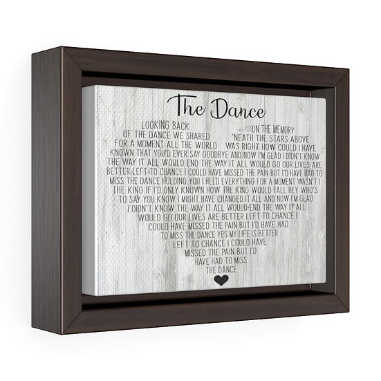 Personalized Canvas Print, The Dance Framed Wrap Canvas, Wedding Gift