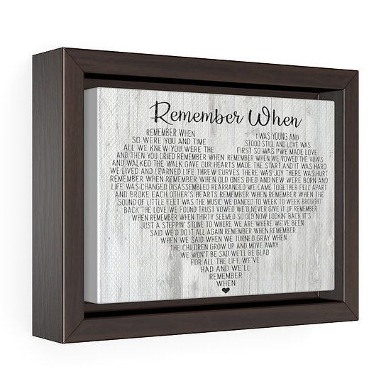 Song Lyric Print, Remember When Song Lyric Personalized Wedding Canvas