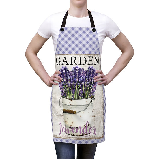 Farmhouse Lavender Apron, Country Lavender Apron, Chef Apron, Garden Apron