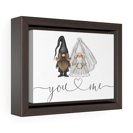 You & Me Wedding Gnome, Framed Premium Gallery Wrap Canvas, Wedding Gifts