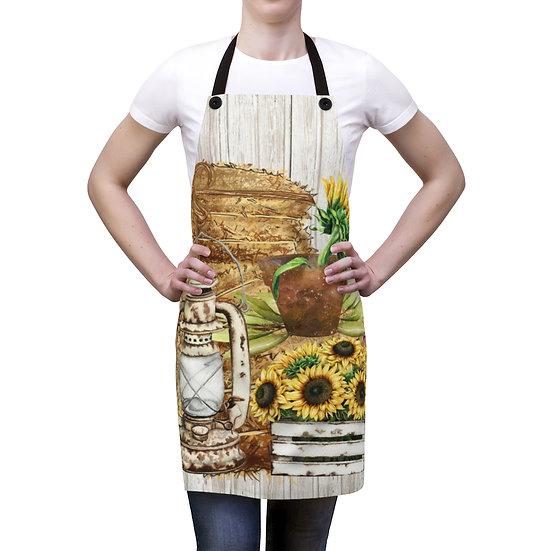 Farmhouse Apron, Country Sunflower Apron, BBQ Apron, Chef Apron