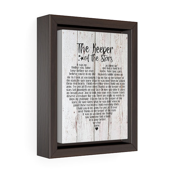 Canvas Print, The Keeper of the Stars Personalized Wedding Canvas