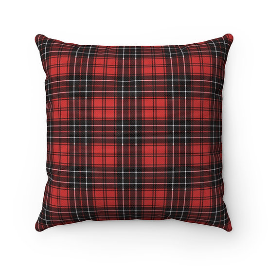 Farmhouse Red and Black Plaid Decorative Pillow, Throw Pillow, Cabin Pillow