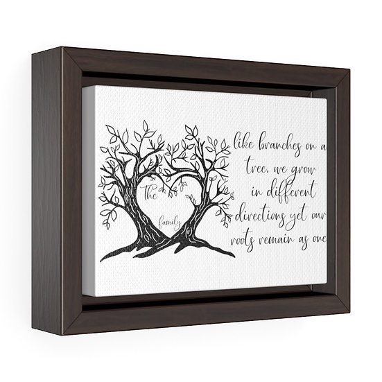Canvas Print, Family Name Branches on a Tree, Personalized Framed Wrap Canvas