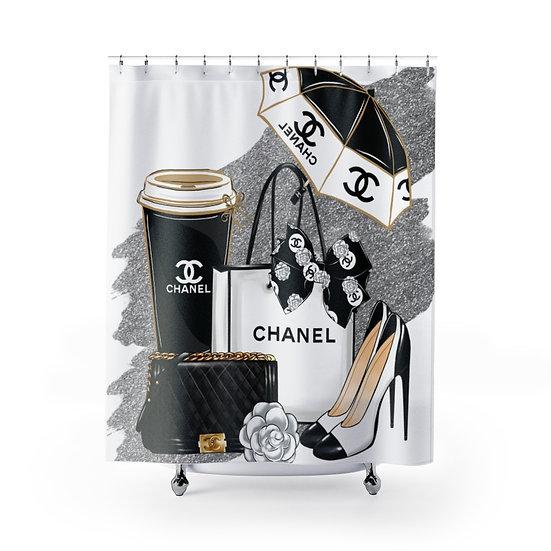Shower Curtain, Chanel Fashion, Books, Shoes, Silver, Make up, Fashion