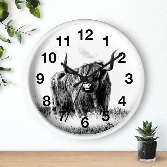 Clock 10 in Highland Cow Clock, Western Ranch Decor, Farm Kitchen Wall Clock