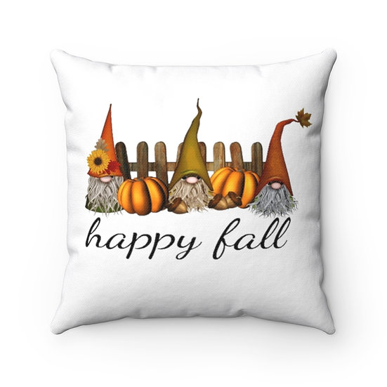 Gnomes of Fall Pillow White