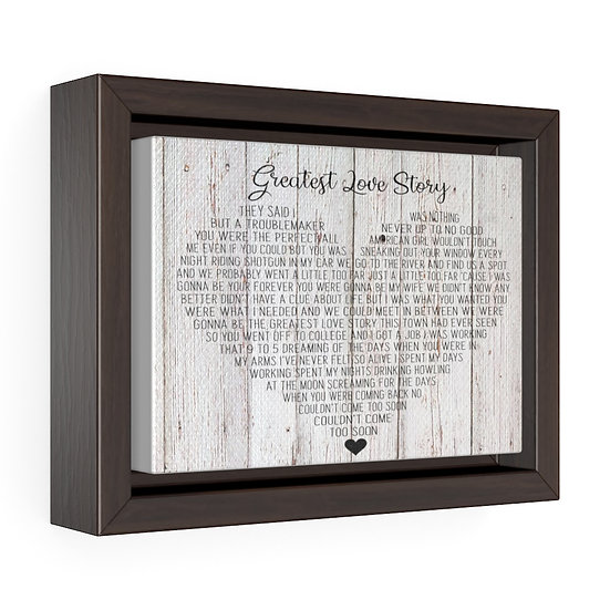 Personalized Canvas Print, Greatest Love Story Framed Wrap Canvas, Wedding Gift