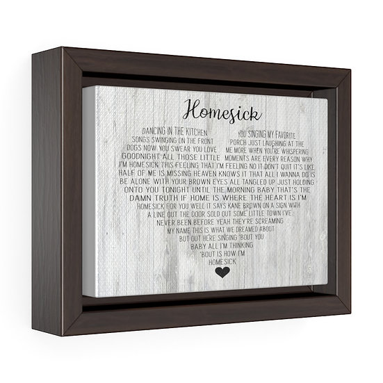 Personalized Canvas Print, Homesick Framed Wrap Canvas, Wedding Gift