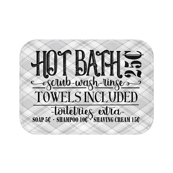 Hot Bath 25 Cents Non Slip Mat, Bathroom Accessories, Funny Bath Mat