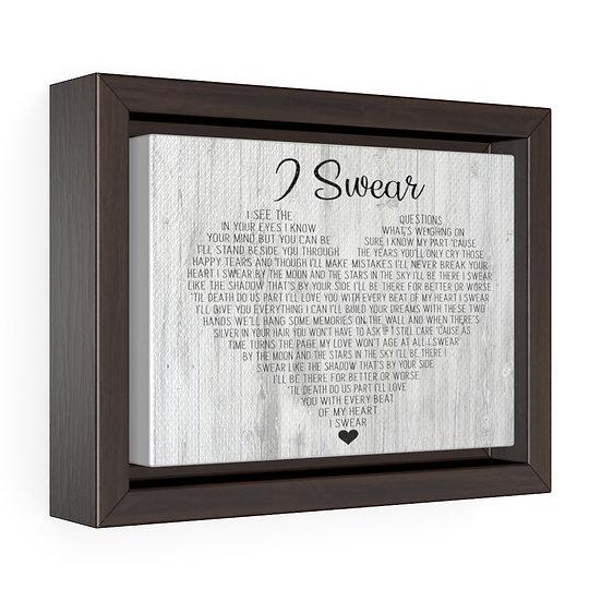 Personalized Song Lyrics Canvas Print, I Swear, Wedding Anniversary Gift