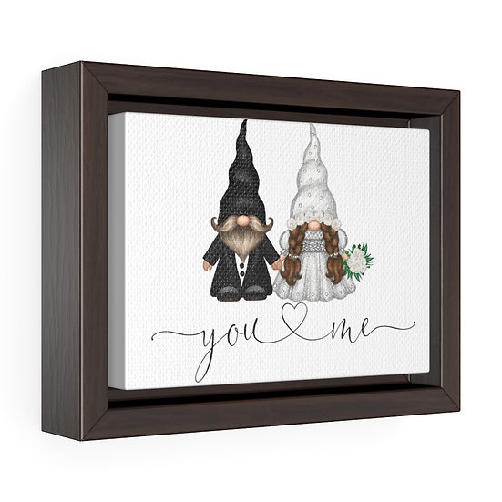 You & Me Wedding Gnome, Framed Premium Gallery Wrap Canvas, Wedding Gift