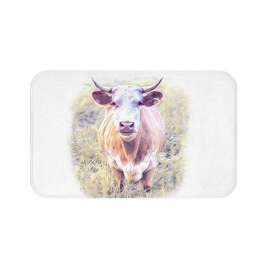 Bath Mat, Cow Bath Mat, Non Slip Bathroom Rug, Cute Farmhouse Bath Mat