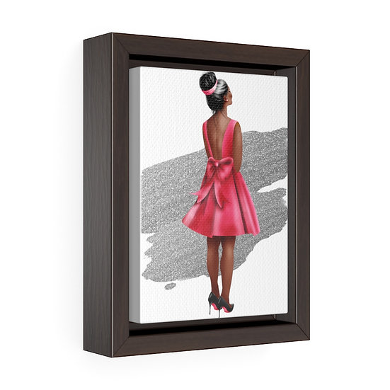 Fashion Illustration art, African American Fashion print, Red Bottom Heels