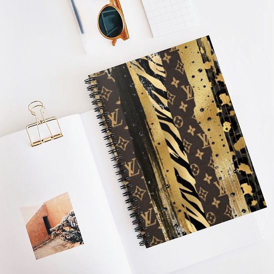 Spiral Notebook, Fashionista Spiral Notebook, Couture Spiral Notebook Ruled Line