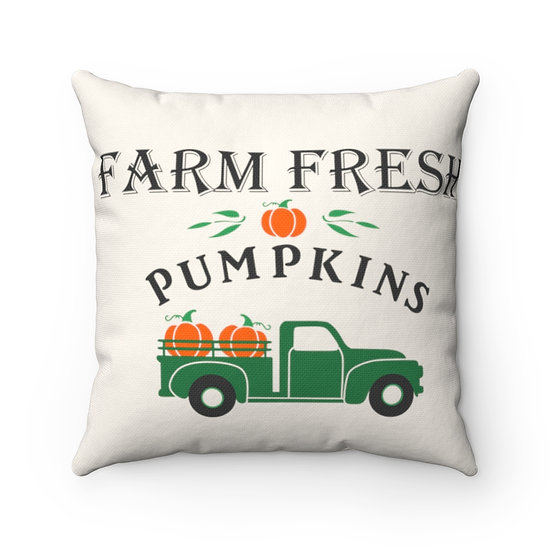 Pumpkin Pillow, Pumpkin Farmhouse Pillow,  Pumpkin Truck Pillow