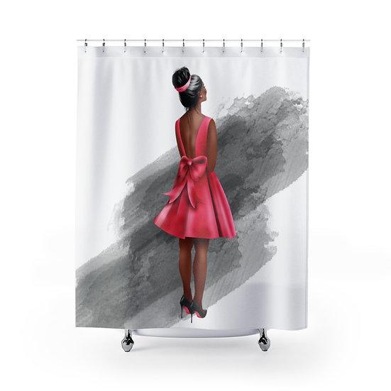 Shower Curtain, Fashion, Red Bottom Heels, African American Woman, Fashion