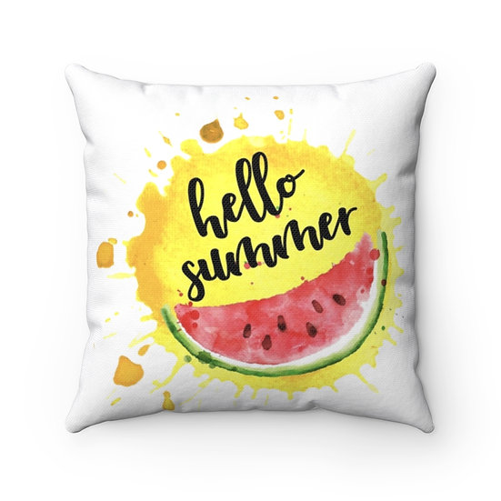 Patio Pillow, Watermelon Pillow, Summer Pillow, Patio Decor