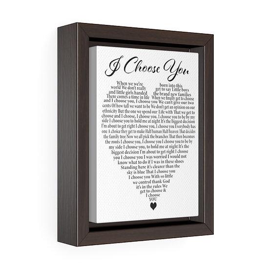 Canvas Print, I Choose You, Wedding Gift, Personalized Wedding Canvas,