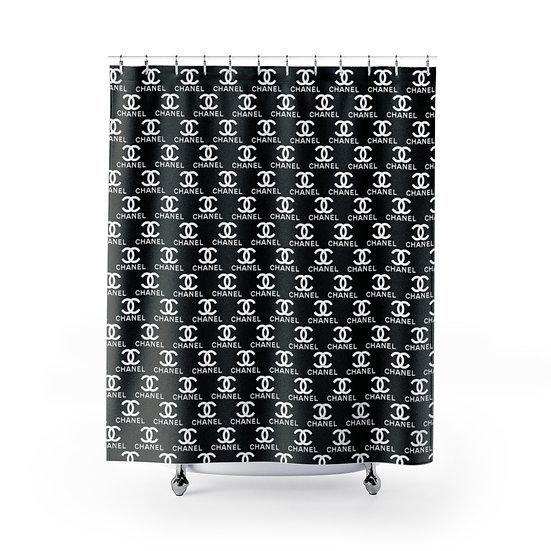 Designer Inspired Fashion Shower Curtain, Black Fashionista Bathroom Decor