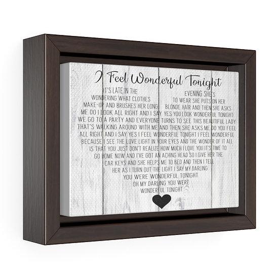 Song Lyric Print, Wonderful Tonight Song Lyric Personalized Wedding Gift