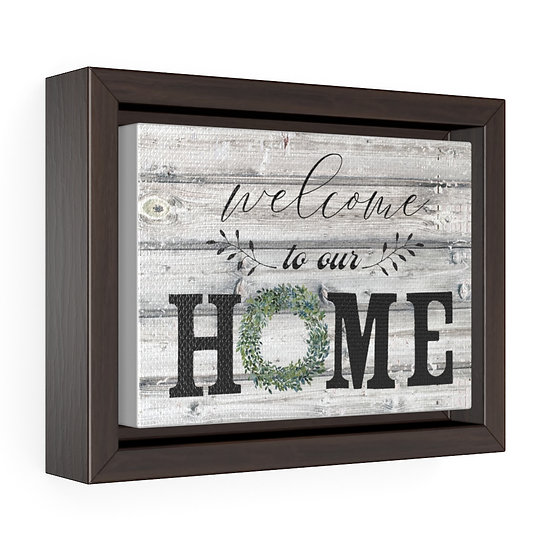 Canvas Print, Welcome to Our Home Farmhouse Country Wall Hanging
