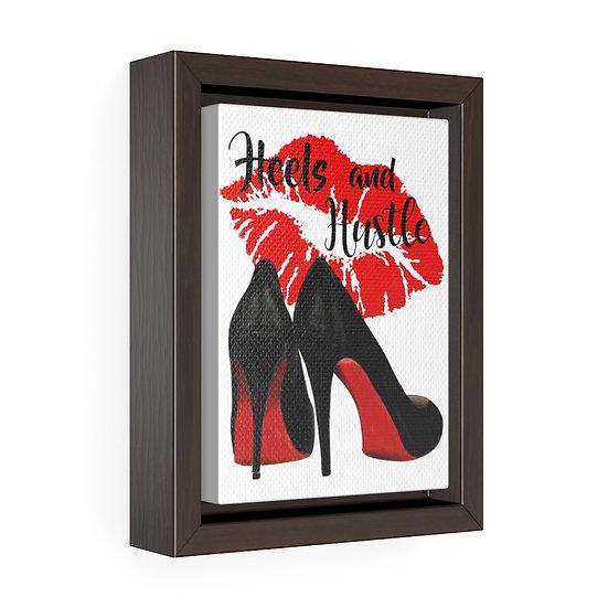 Fashion Illustration art, Reflection Heels and Lips Fashion print, Red Bottom